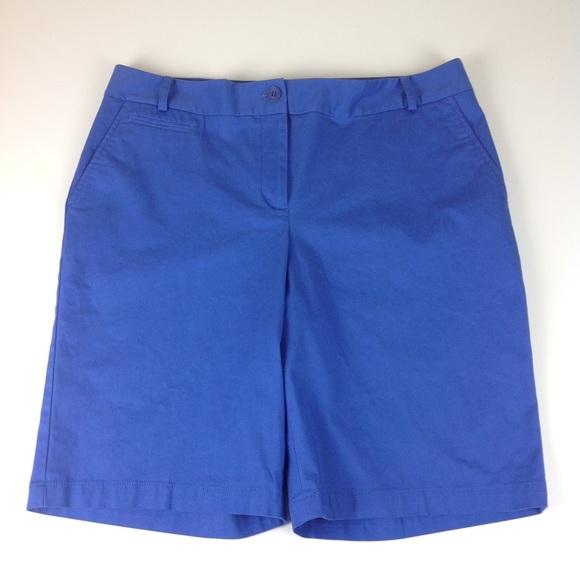 Talbots Pants - Talbots Stretch Bermuda Shorts Blue Sz 12